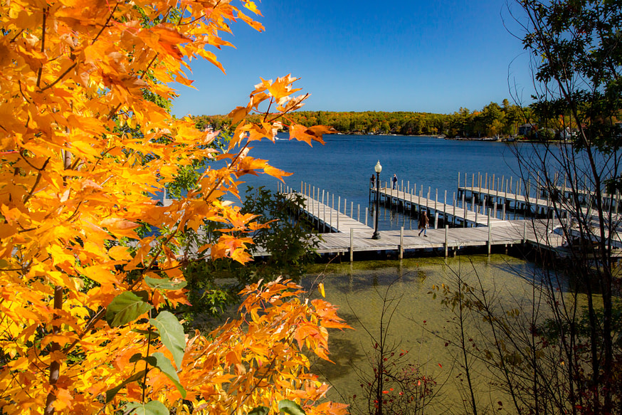 autumn on the docks of Laconia, New Hampshire