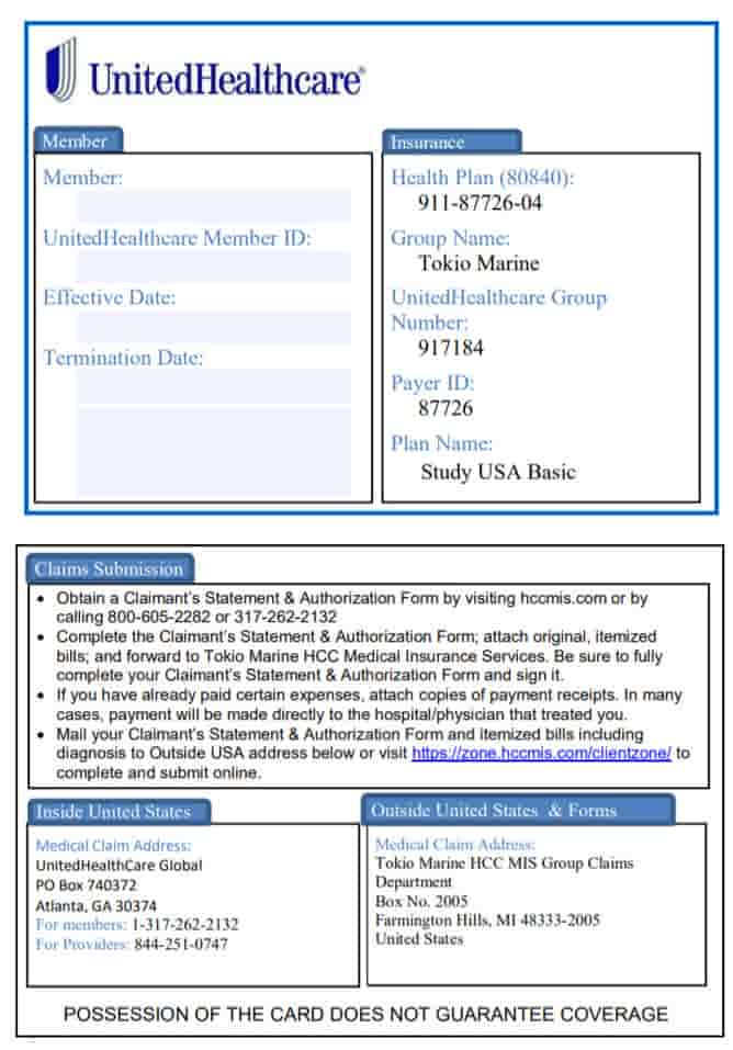 Download Claims Forms for Travel Insure plans for Visit USA, Study USa, WorldMed