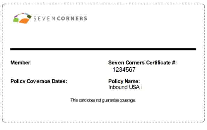Download ID Card for Seven Corners plans for Inbound USA, Liaison Travel and Liaison Student