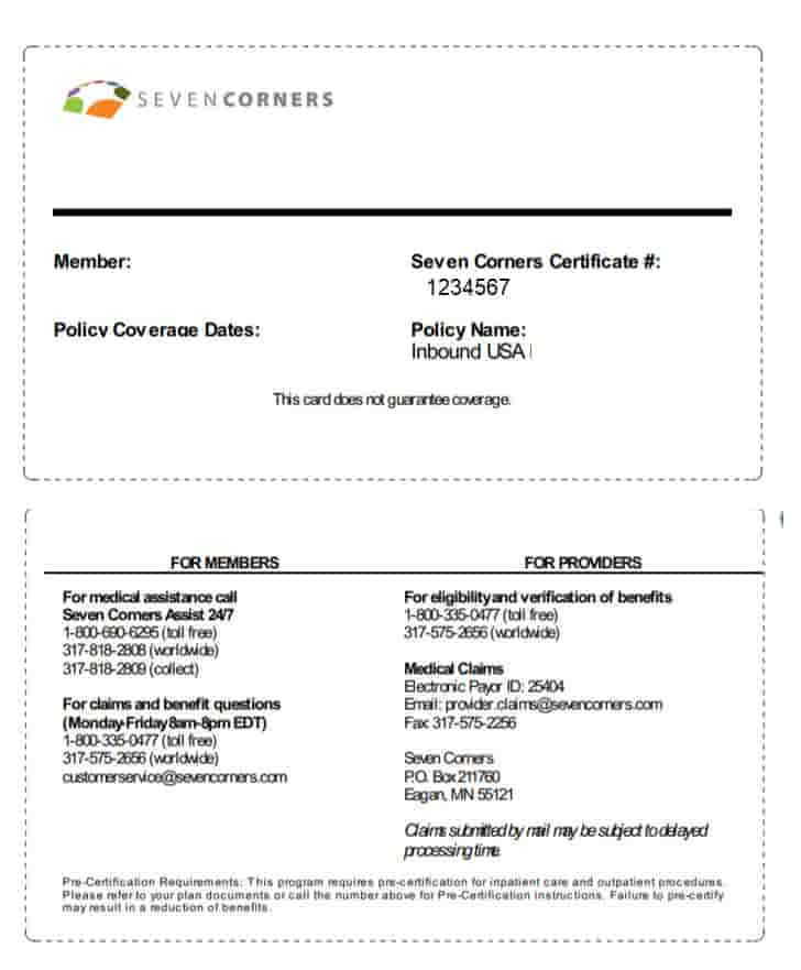 Download Claims Forms for Seven Corners plans for Inbound USA, Liaison Travel and Liaison Student